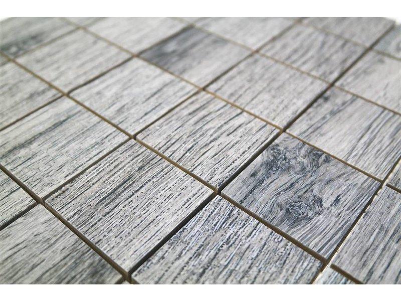 BÄRWOLF Keramik Mosaikfliesen KEG-14008 oak grey