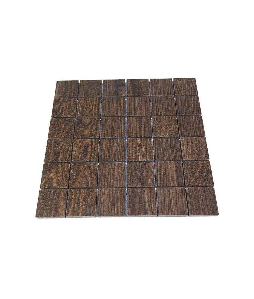 Keramik Mosaikfliesen KEG-14004 oak brown
