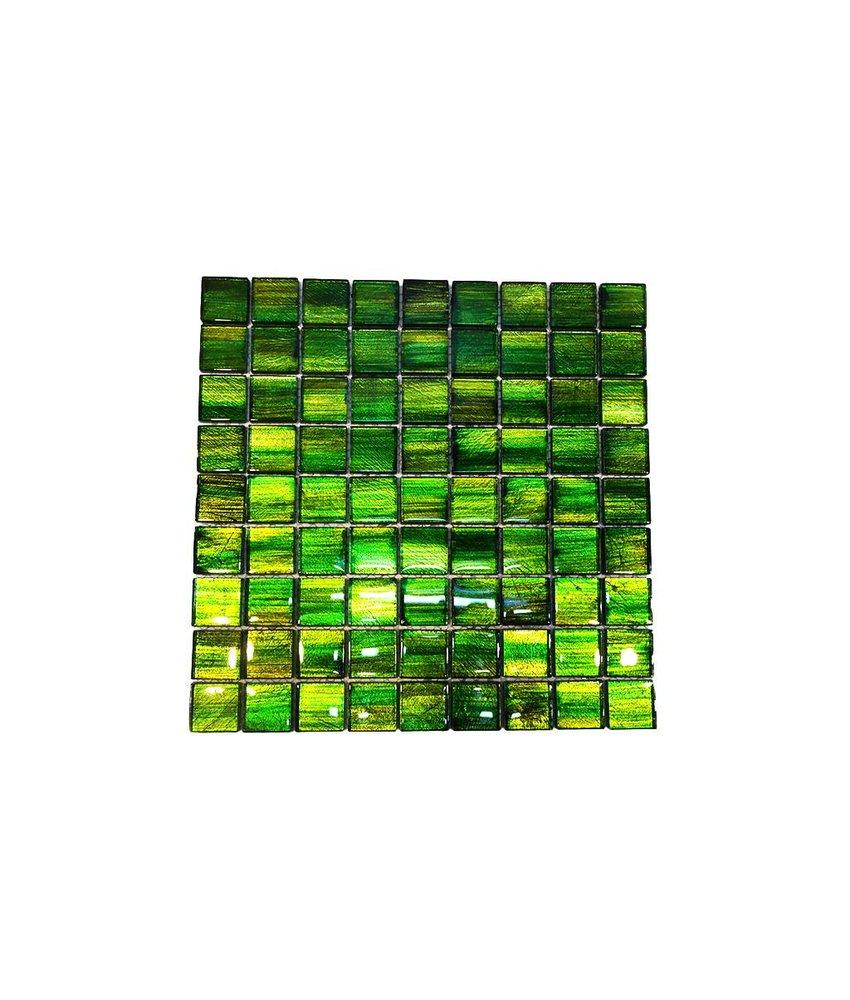 Glasmosaik-Fliesen GL-13001 emerald green