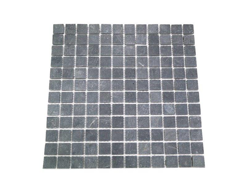 BÄRWOLF Naturstein Mosaikfliesen CM-7114 dark grey
