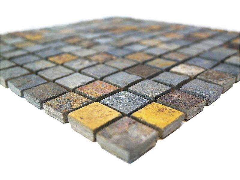 BÄRWOLF Naturstein Mosaikfliesen CM-7112 rustic