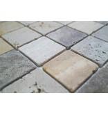 BÄRWOLF Naturstein Mosaikfliesen CM-10004 travertine mix