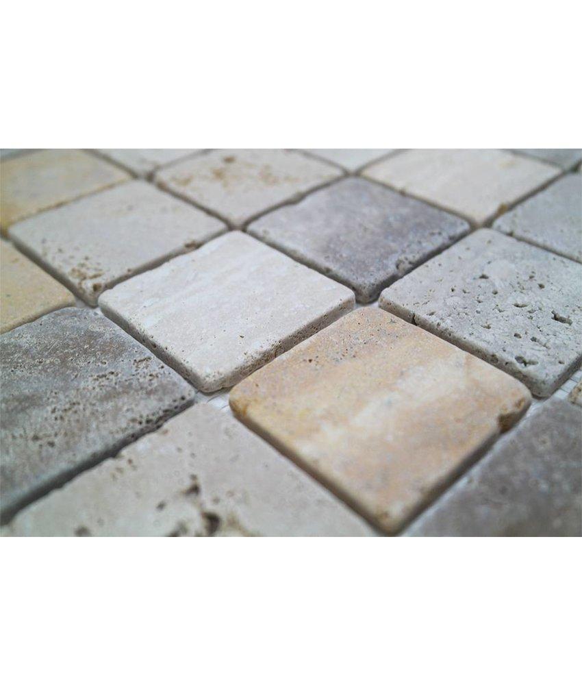 Naturstein Mosaikfliesen CM-10004 travertine mix