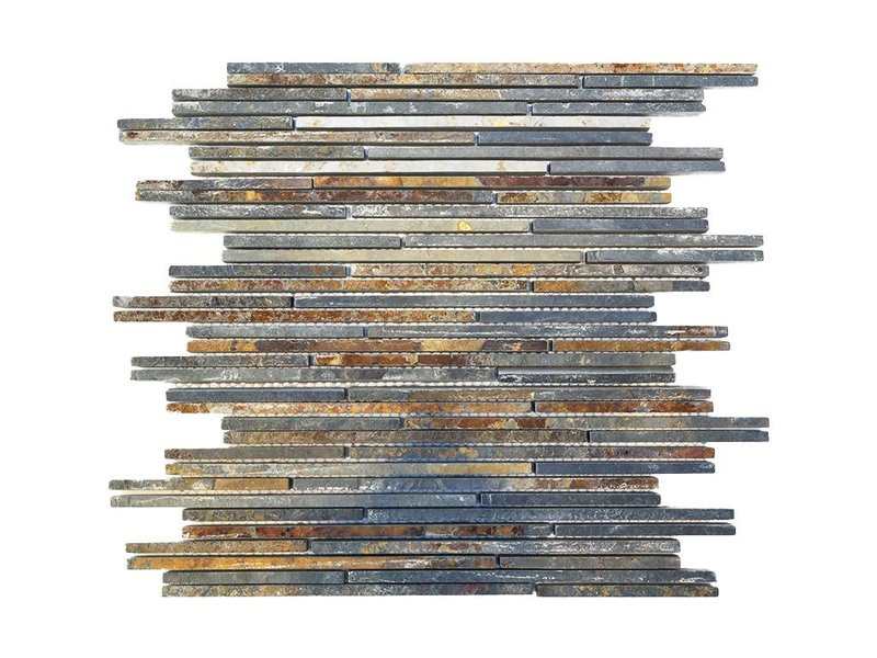 BÄRWOLF Naturstein Mosaikfliesen CM-09007 rustic