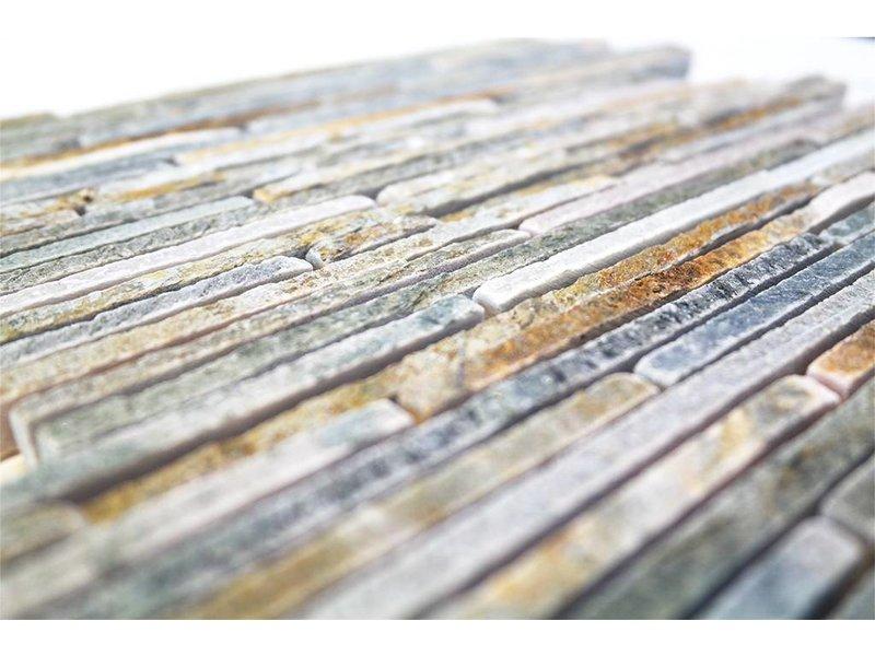 BÄRWOLF Naturstein Mosaikfliesen CM-09006 light rustical