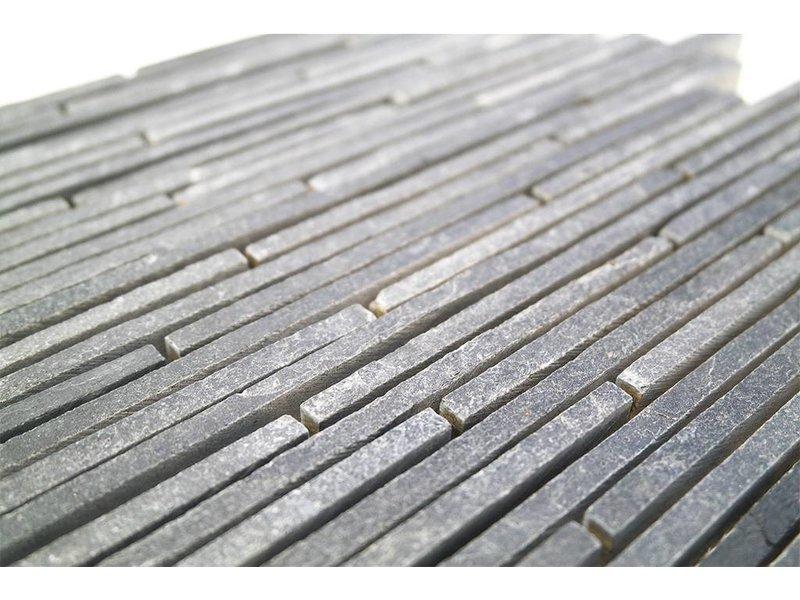 BÄRWOLF Naturstein Mosaikfliesen CM-09005 black