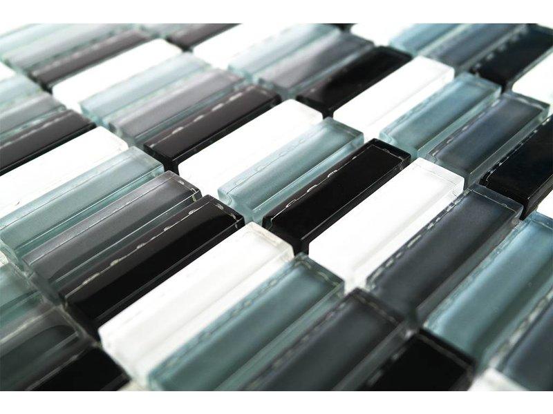 Glasmosaik fliesen schwarz weiß grau mix g mosaic outlet