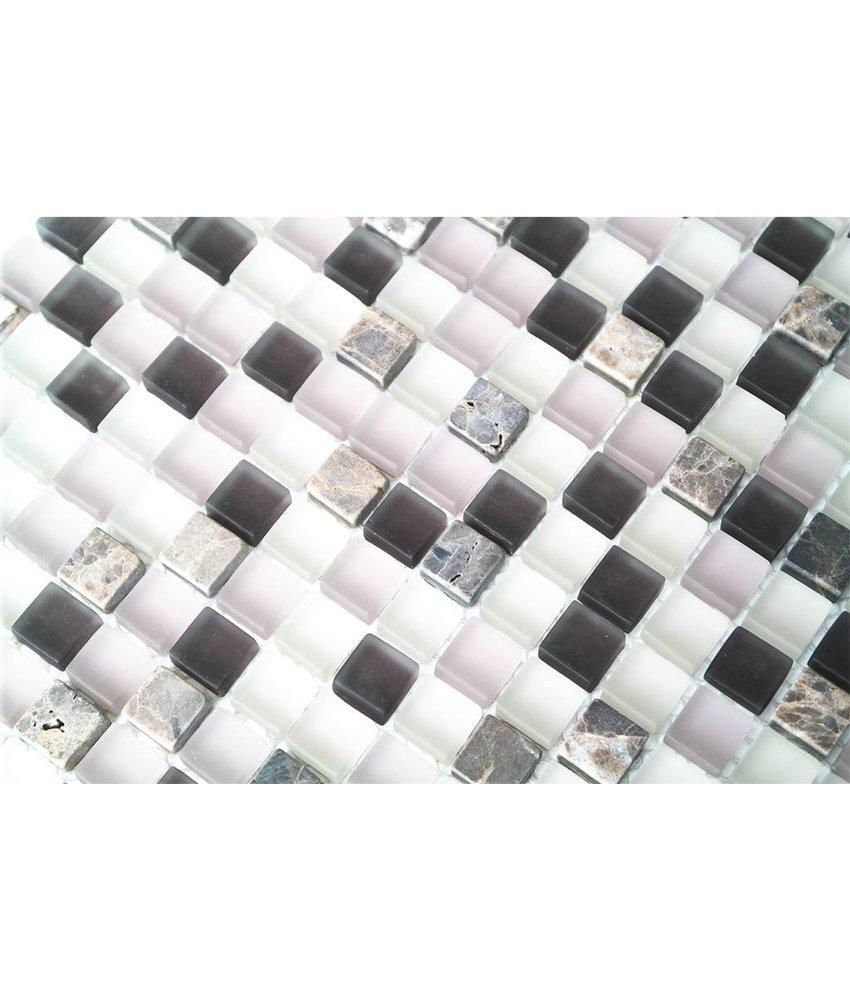 mosaikfliesen im mix mit glas metall muschel und keramik mosaic outlet. Black Bedroom Furniture Sets. Home Design Ideas