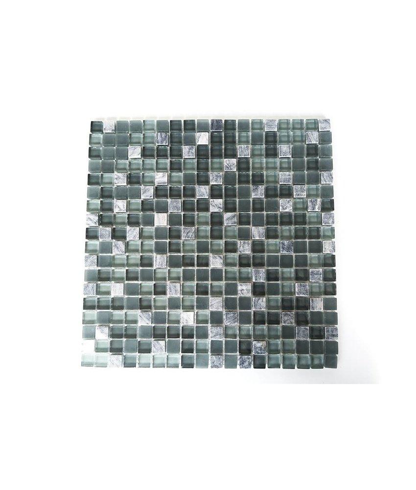 Mosaikfliesen grau  Mosaikfliesen im Mix mit Glas Metall Muschel und Keramik - Mosaic ...