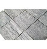BÄRWOLF Keramik Mosaikfliesen KEG-14033 Wood eichenholz-grau