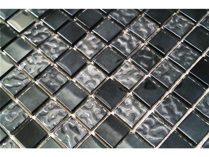 Glasmosaik fliesen grau schwarz perlmutt g2323 - Fliesen farbe grau ...