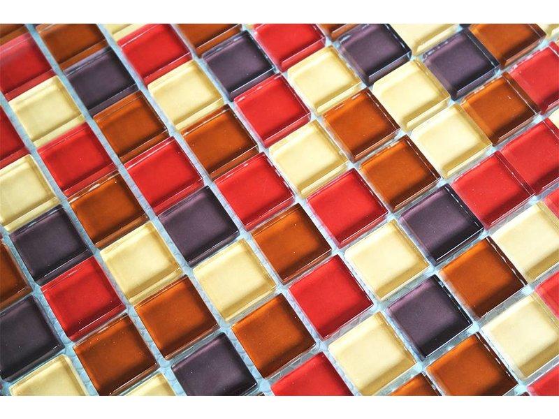Glasmosaik fliesen rot beige braun mix g004 for Glasmosaik fliesen