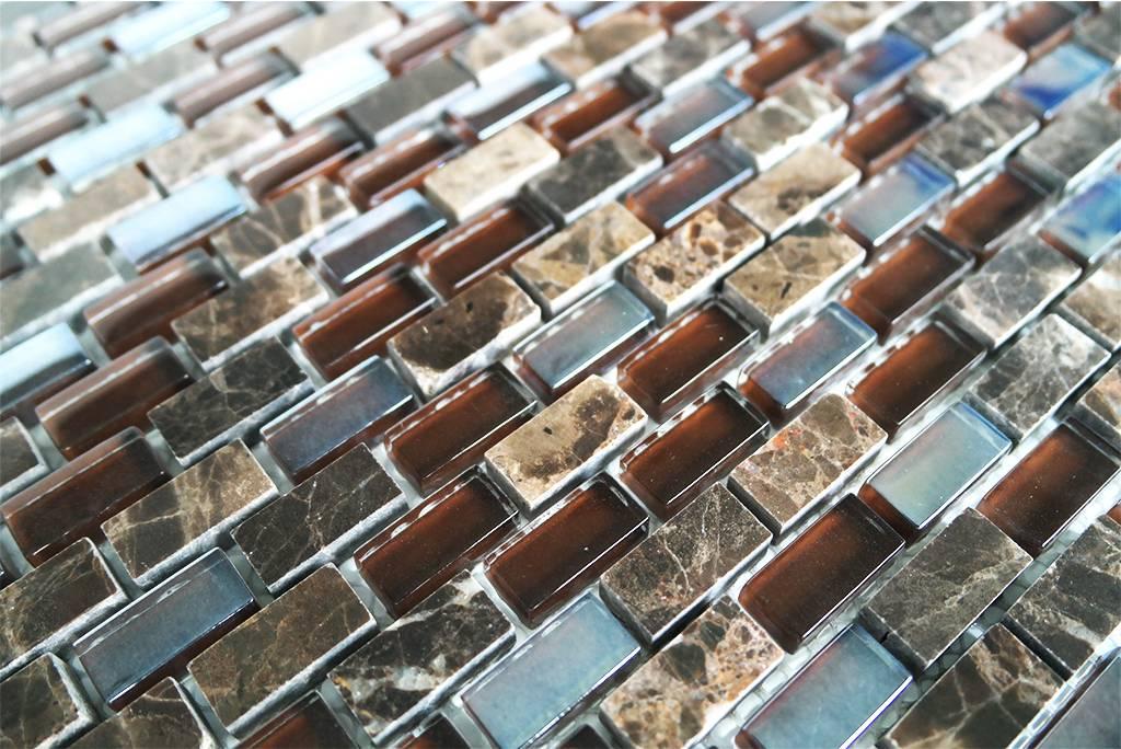 Mosaikfliesen Glas Marmor Braun Mix Perlmutt Mm1 Mosaic