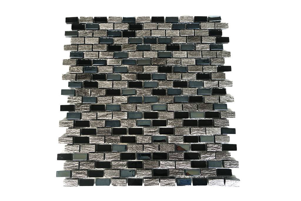 mosaikfliesen glas marmor schwarz grau silber mm3 mosaic outlet. Black Bedroom Furniture Sets. Home Design Ideas