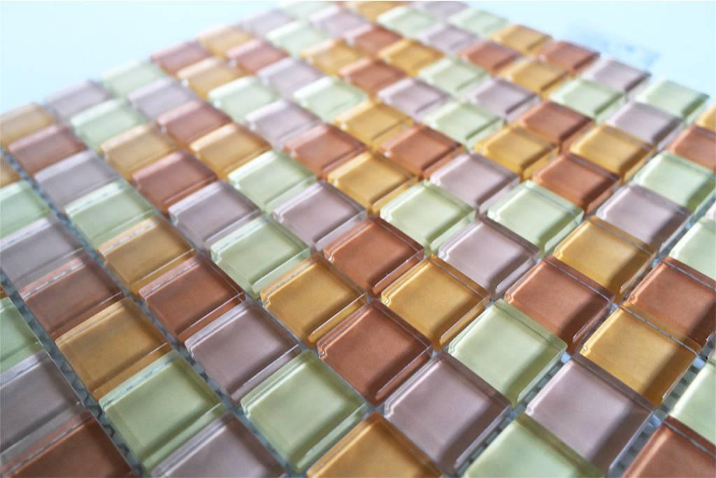 Glasmosaik fliesen beige mix g007 mosaic outlet for Glasmosaik fliesen