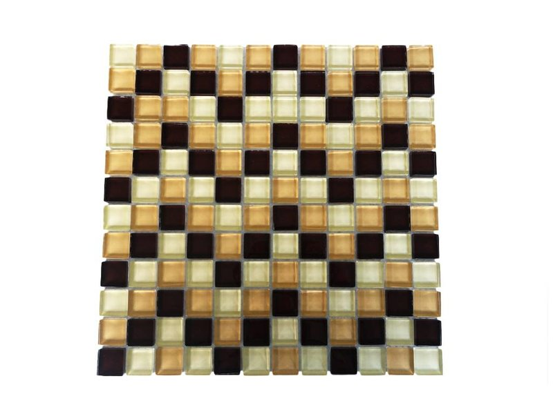 Glasmosaik Fliesen - Braun / Beige Mix - G006 - Mosaic Outlet