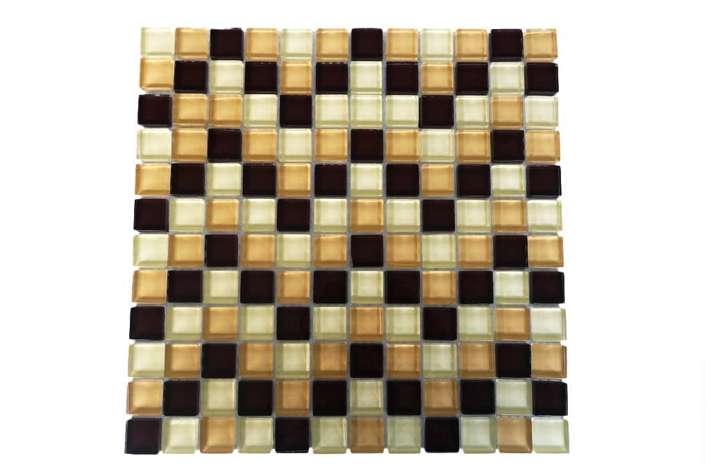 GLASMOSAIK FLIESEN - braun / beige mix - G006 - Mosaic Outlet