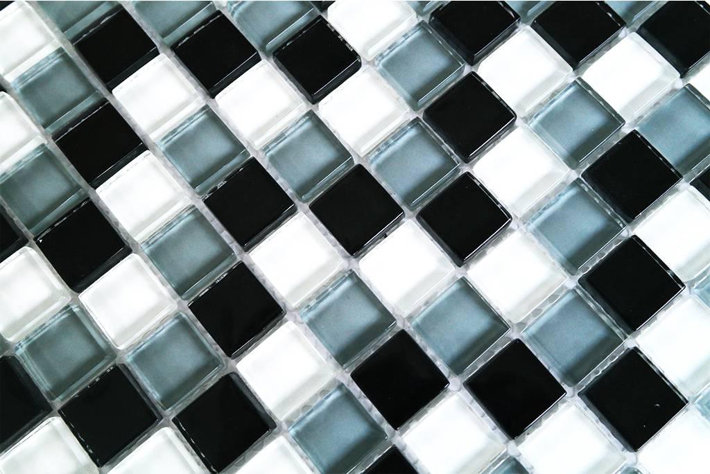 glasmosaik fliesen wei grau schwarz g005 ebay. Black Bedroom Furniture Sets. Home Design Ideas