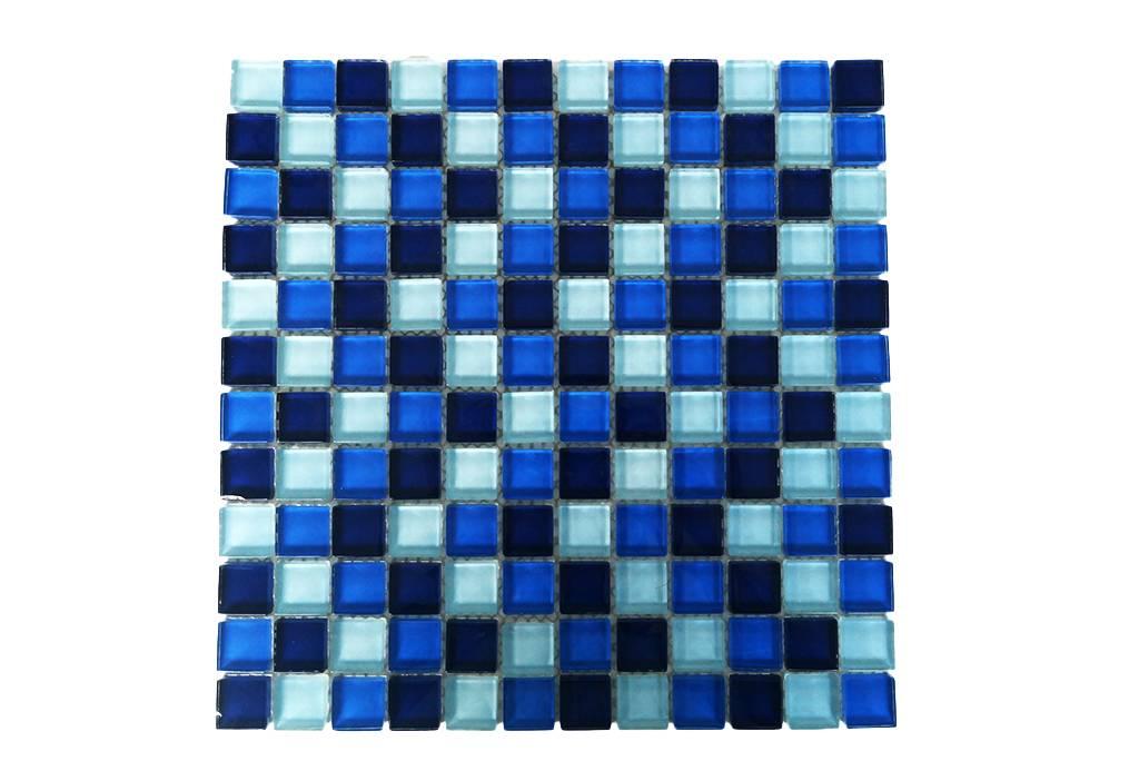 GLASMOSAIK FLIESEN Blau Mix G Mosaic Outlet - Glasmosaik fliesen blau