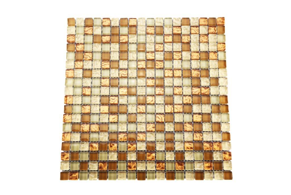 Glasmosaik Fliesen Kupfer Braun Mix Gm177 Mosaic Outlet