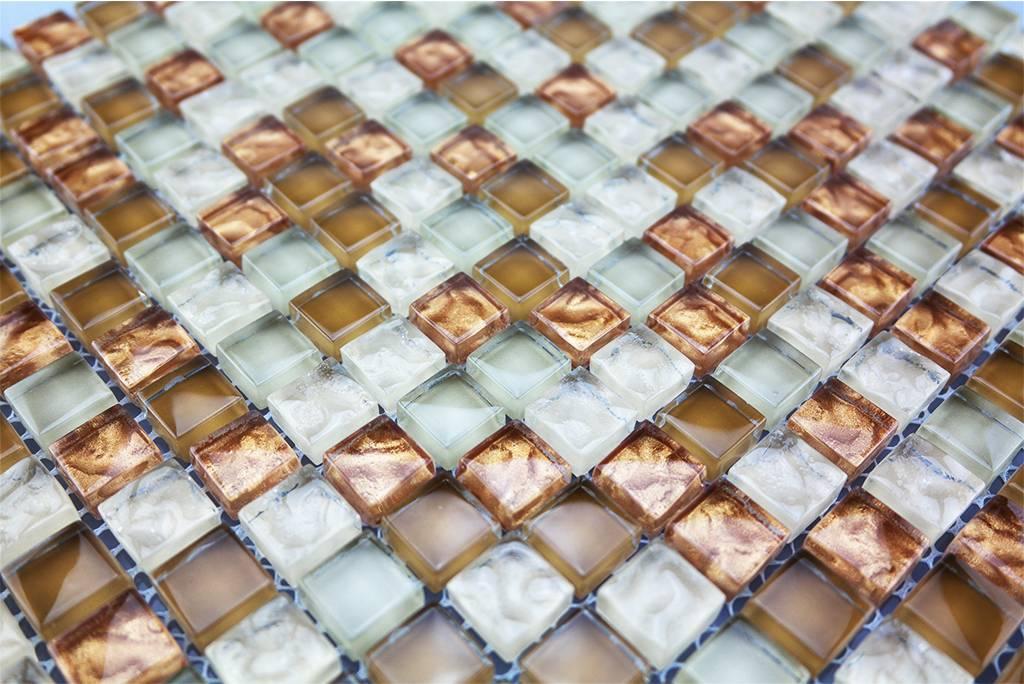 glasmosaik fliesen kupfer braun mix gm177 mosaic outlet. Black Bedroom Furniture Sets. Home Design Ideas
