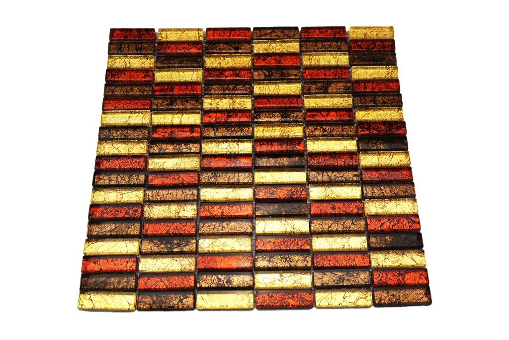 Glasmosaik fliesen rot braun gold gm1537 mosaic - Fliesen outlet ...
