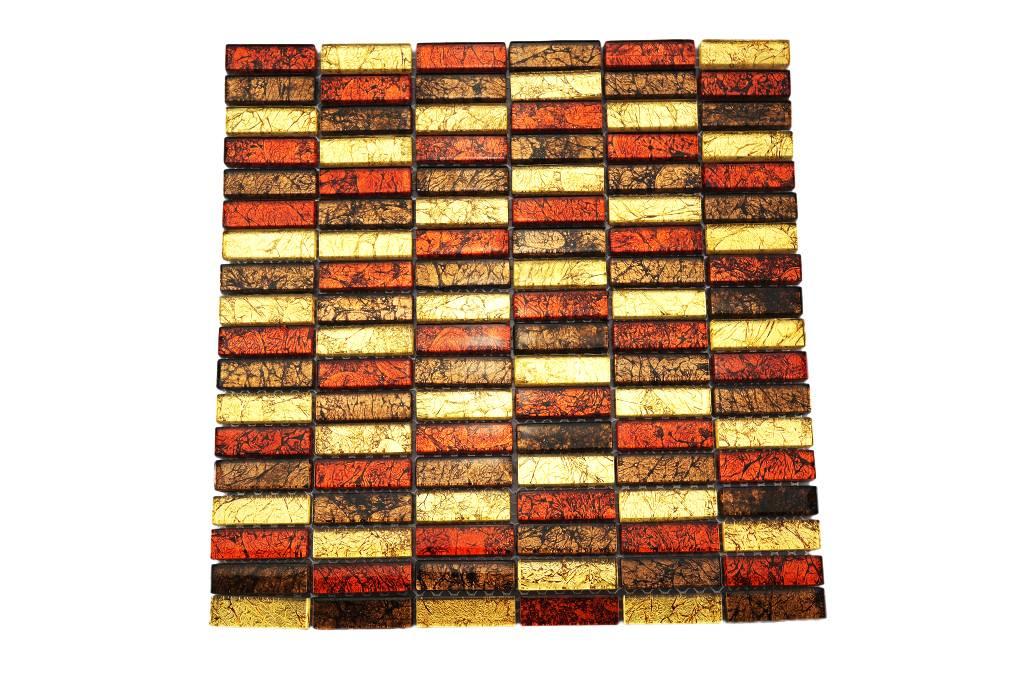 Glasmosaik fliesen rot braun gold gm1537 mosaic for Glasmosaik fliesen