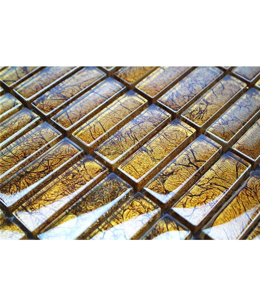 GLASMOSAIKFLIESEN - gold - G1002