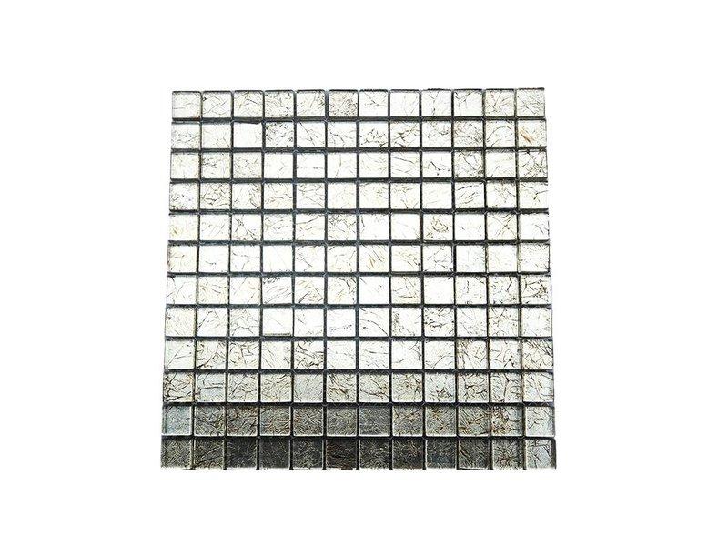 Glasmosaik fliesen silber gm2331 mosaic outlet for Glasmosaik fliesen