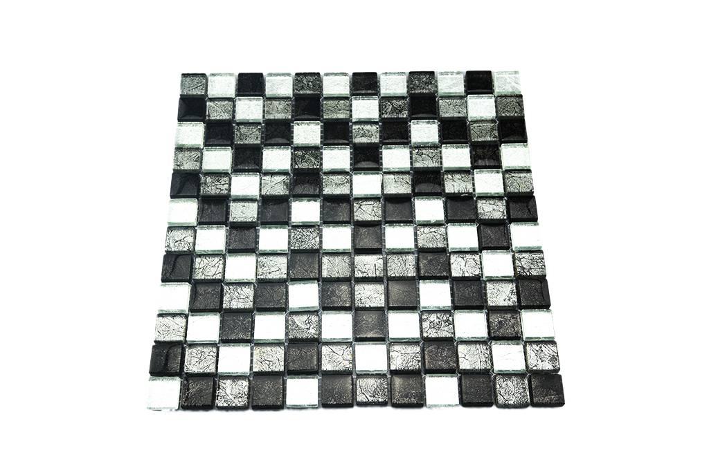 glasmosaik fliesen silber grau schwarz gm2301 ebay. Black Bedroom Furniture Sets. Home Design Ideas