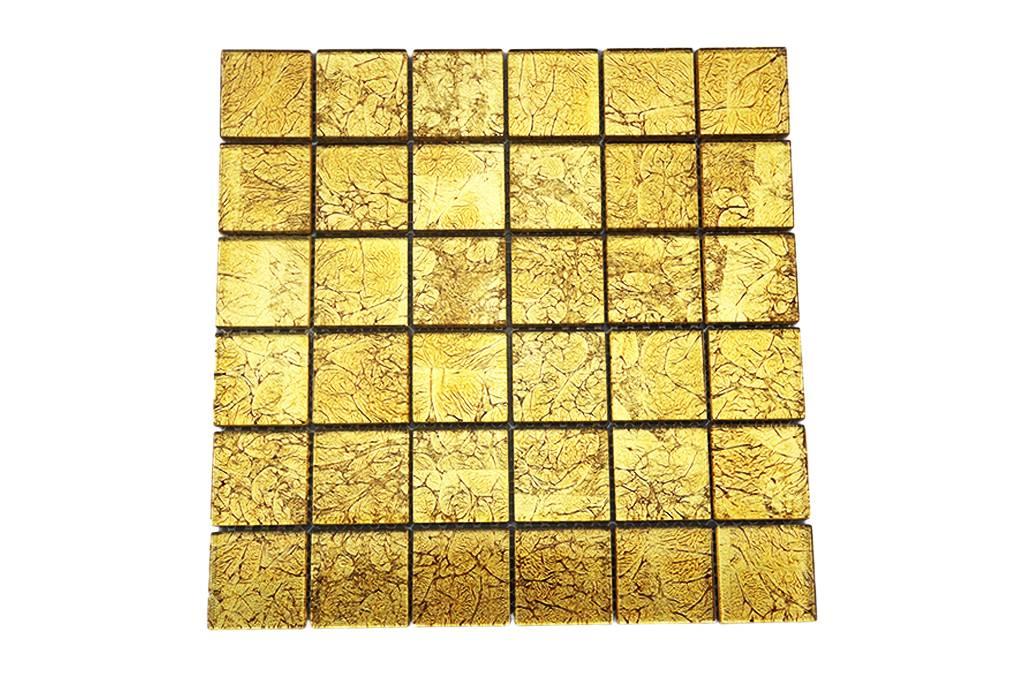 glasmosaik fliesen gold gm4837 ebay. Black Bedroom Furniture Sets. Home Design Ideas