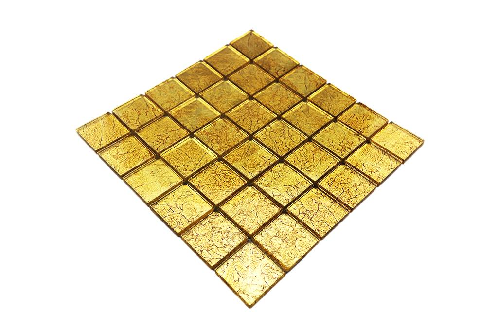 Glasmosaik Fliesen Gold Gm4837 Mosaic Outlet