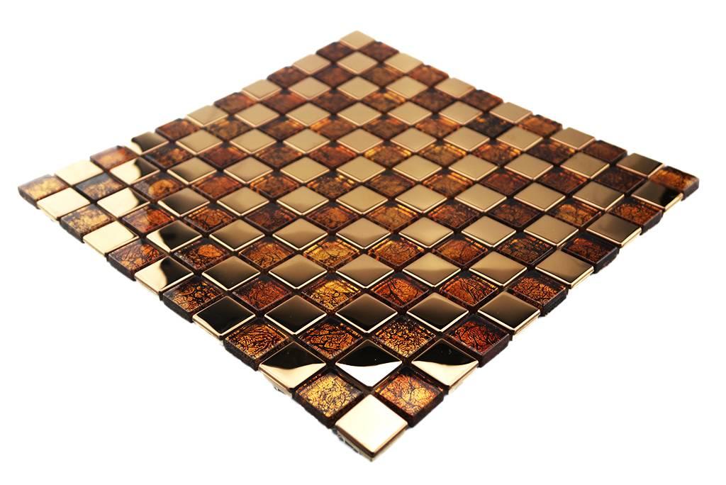 mosaikfliesen wei, mosaikfliesen - glas / edelstahl- braun/kupfer - g1 - mosaic outlet, Design ideen