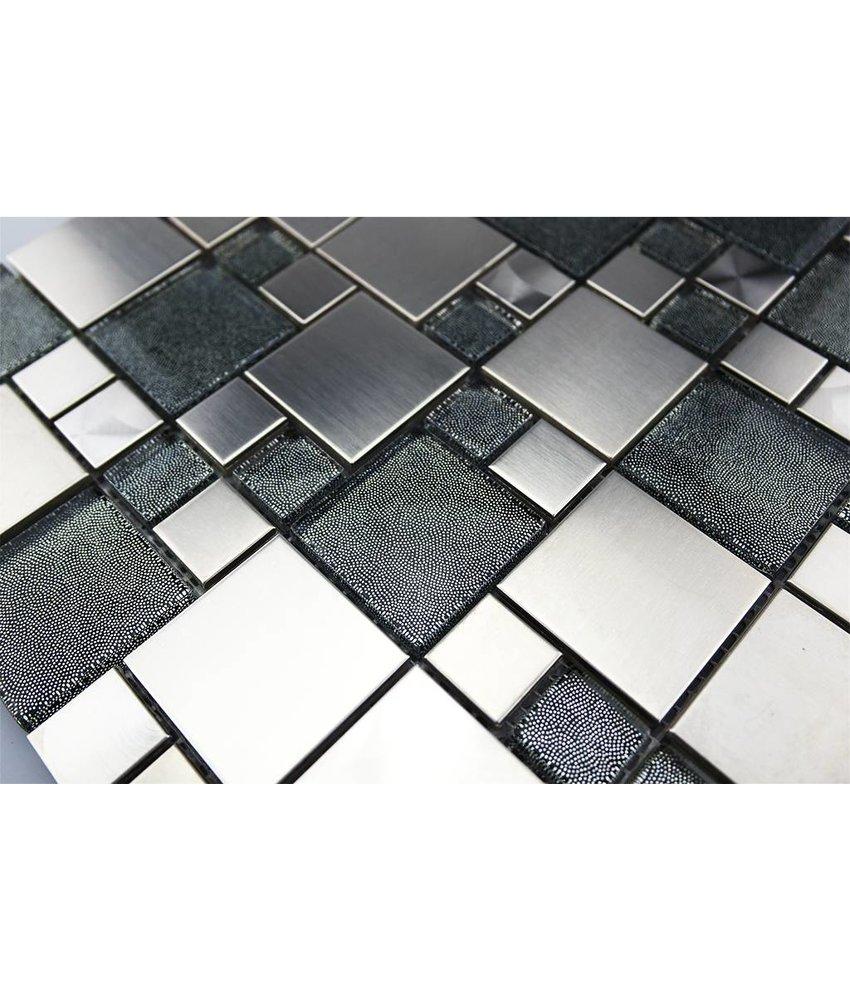 Mosaikfliesen Im Mix Mit Glas Metall Muschel Und Keramik Mosaic Outlet - Mosaik fliesen 5x5cm