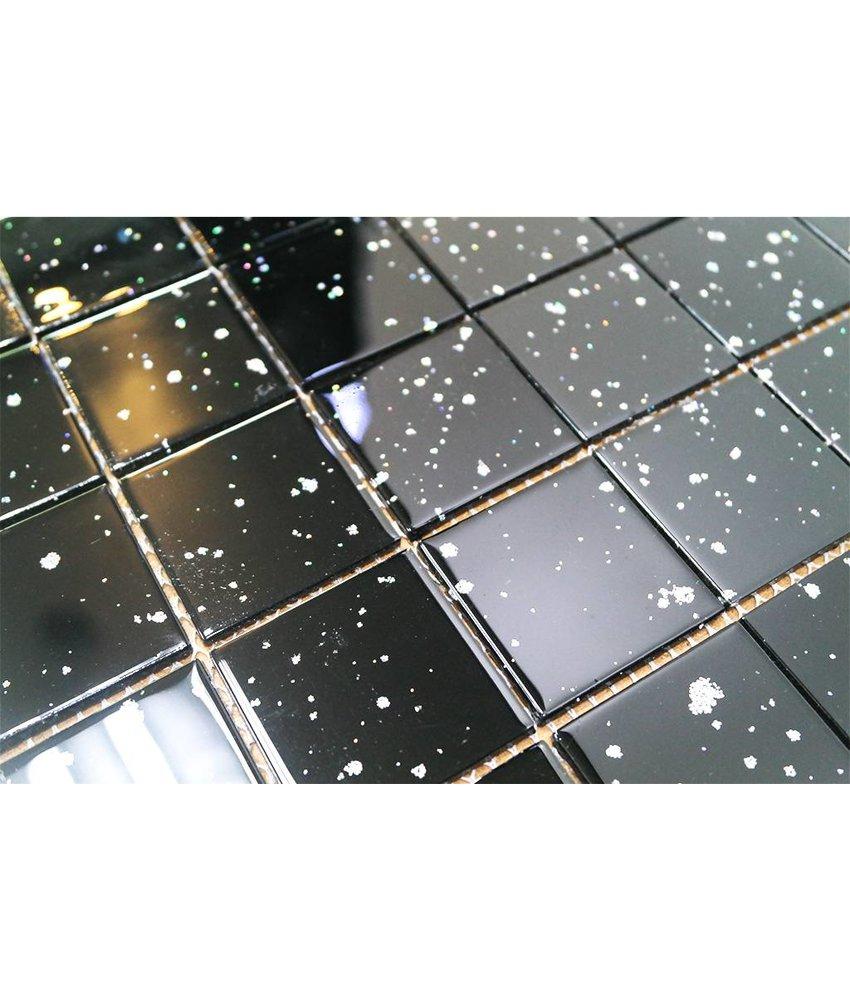 Glasmosaik Fliesen Günstig Bequem Online Bestellen Mosaic Outlet - Schwarze fliesen mit glitzer