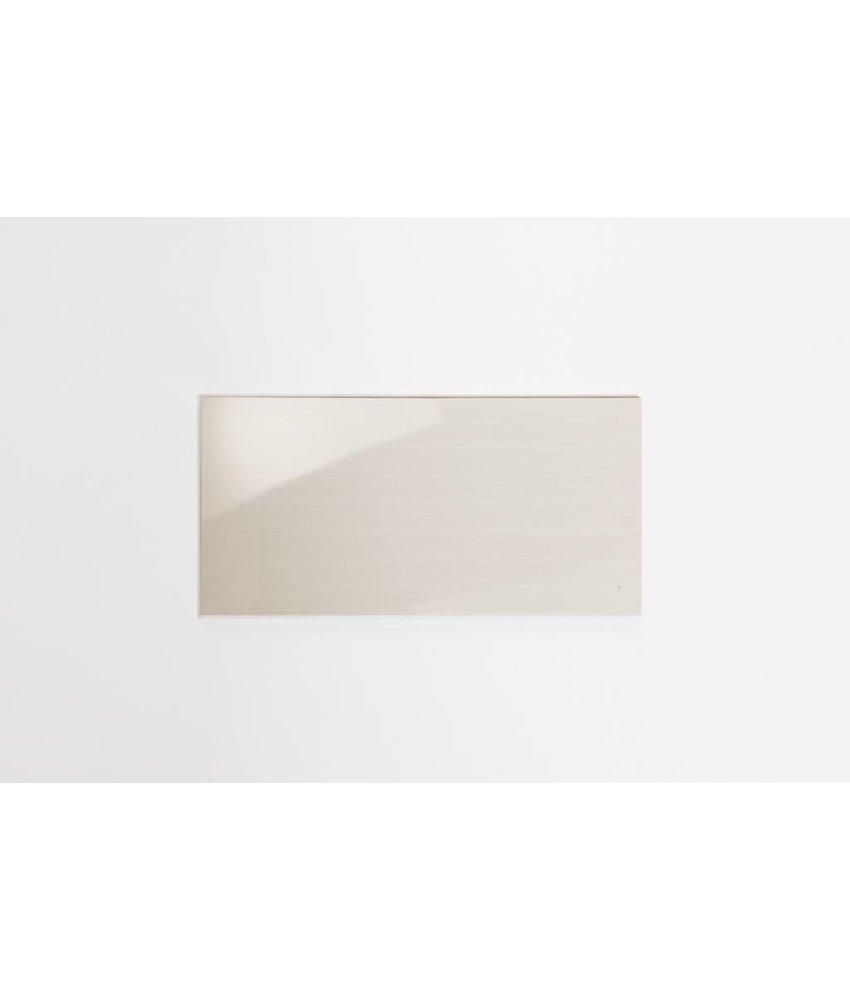 Wandfliesen rektifiziert - TIRA hellcreme gestreift glänzend - 30x60 cm