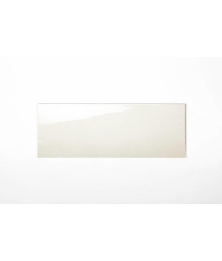 Wandfliesen nicht rektifiziert - hellcreme glänzend - 25x70 cm