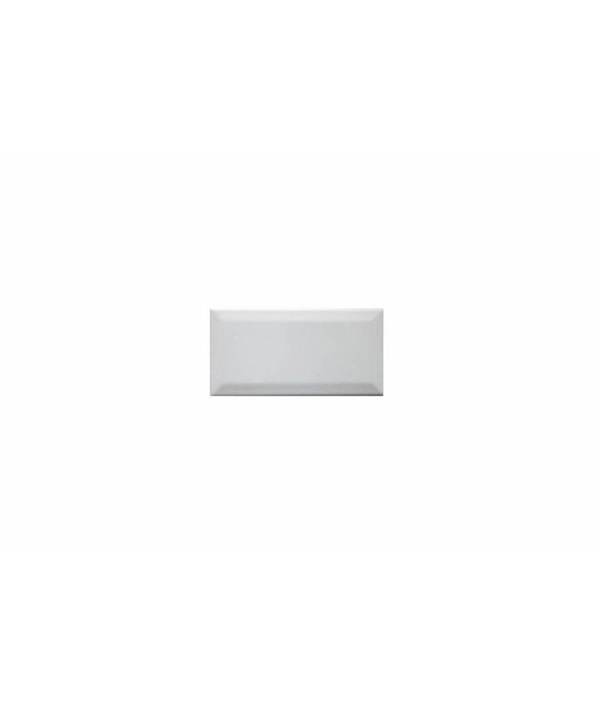Metro Fliesen mit Facette - weiß glänzend - 7,5x15 cm