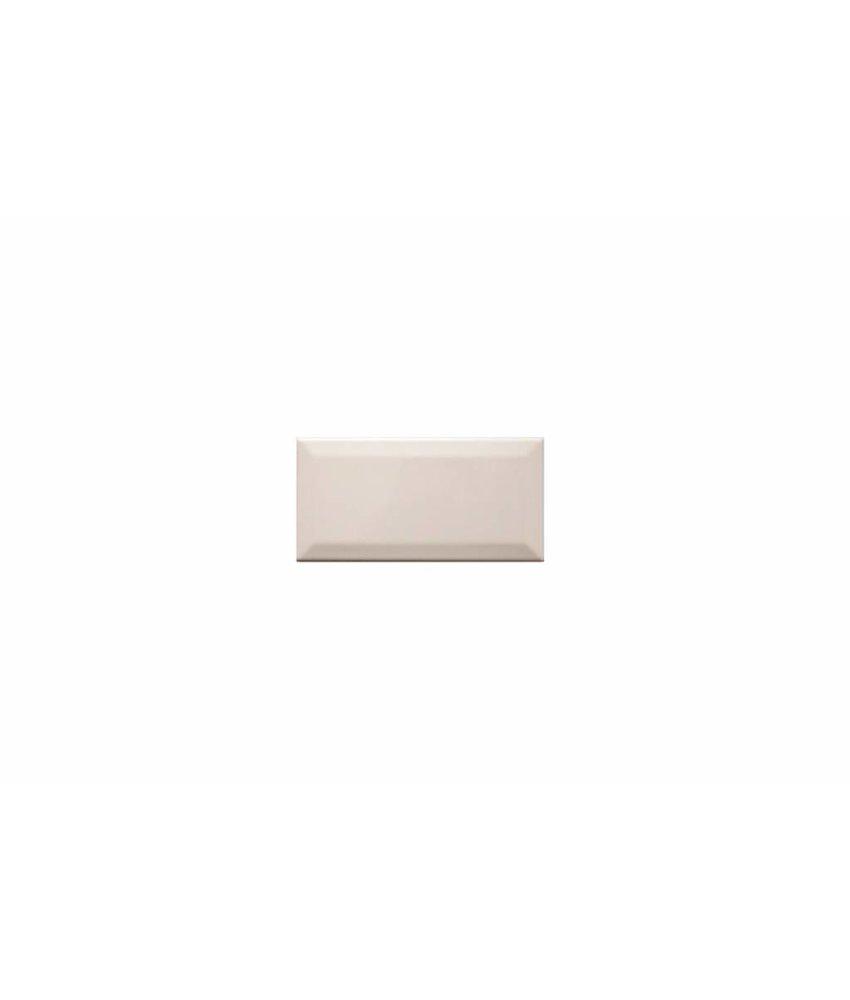 Metro Fliesen mit Facette - creme glänzend - 7,5x15 cm