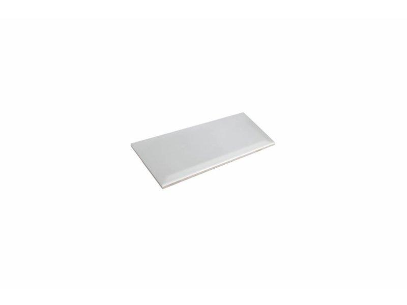 Metro Fliesen mit Facette weiß glänzend 10x20 cm