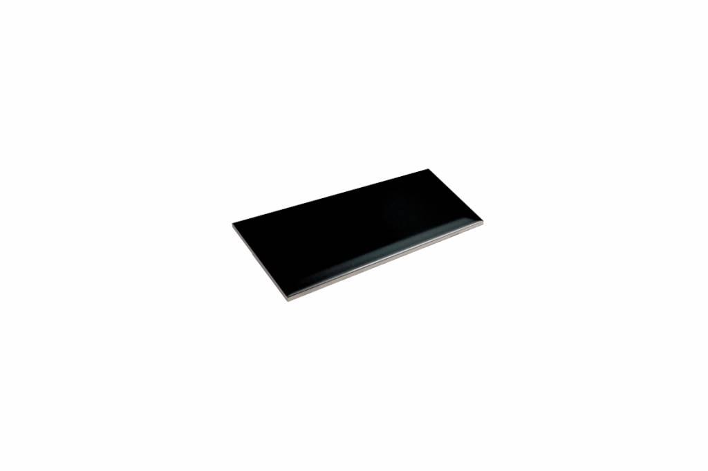 metro fliesen mit facette schwarz gl nzend 10x20 cm mosaic outlet. Black Bedroom Furniture Sets. Home Design Ideas