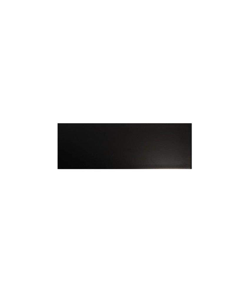 Metro Fliesen 9,7x29,7 cm - schwarz matt - 10x30 cm