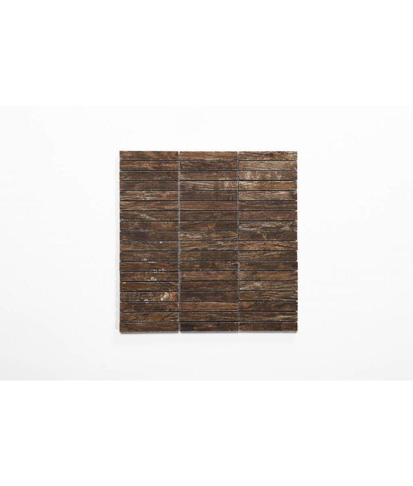 Feinsteinzeug Mosaik - BUFFALO Holzoptik braun 1,5x10 - 30x30 cm