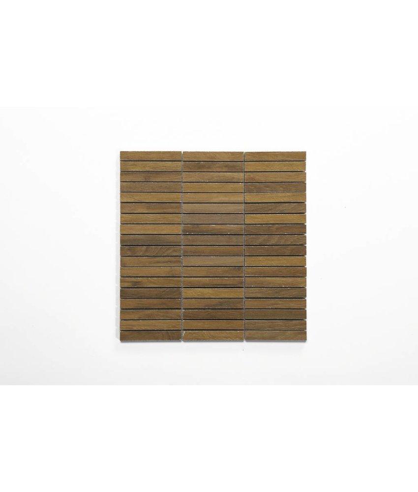 Feinsteinzeug Mosaik - JERSEY Holzoptik braun 1,5x10 - 30x30 cm