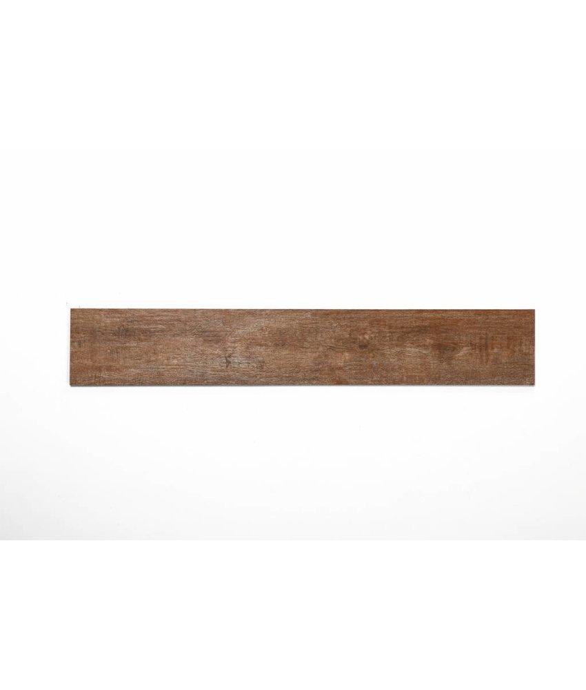 Feinsteinzeug glasiert und eingefärbt - ARKLOW Holzoptik hellbraun - 15x90 cm