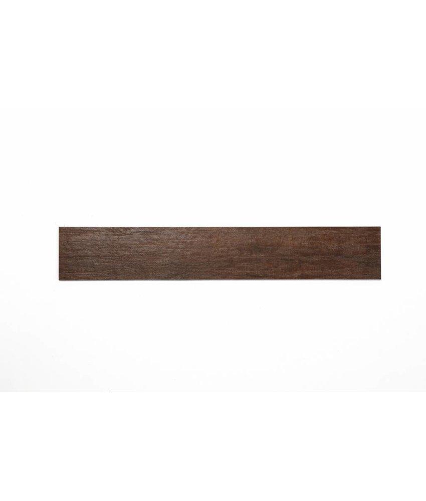 Feinsteinzeug glasiert und eingefärbt - WICKLOW Holzoptik dunkelbraun - 15x90 cm