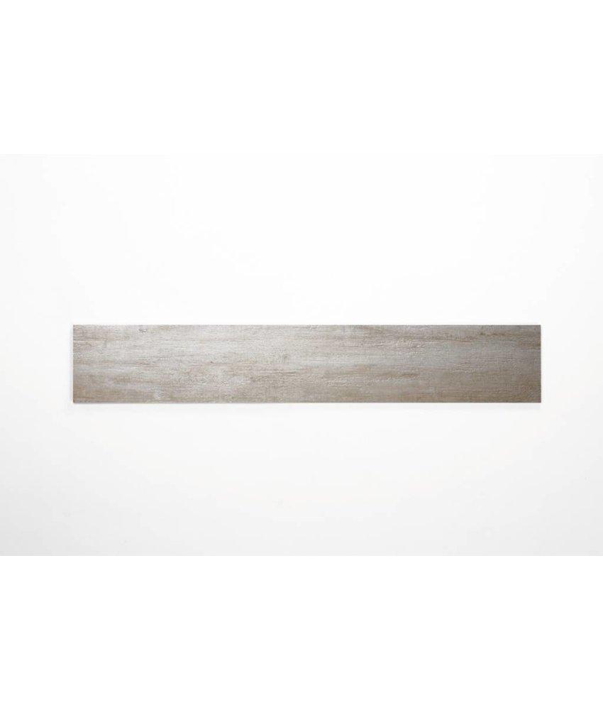 Feinsteinzeug glasiert und eingefärbt - MALLOW Holzoptik weiß - 15x90 cm