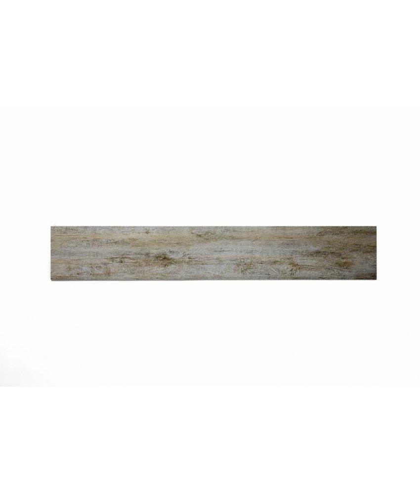 Feinsteinzeug glasiert und eingefärbt - BALLYLOW Holzoptik hellbeige-grau - 15x90 cm