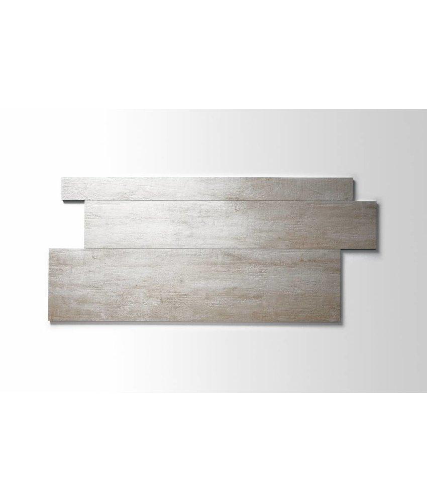 Feinsteinzeug glasiert und eingefärbt - MALLOW Holzoptik weiß Format Mix - 7,3+14,8+22,3x90 cm
