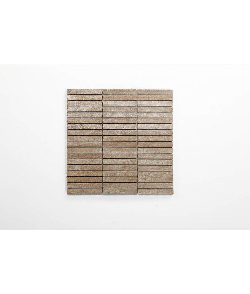 Feinsteinzeug Mosaik - CARLOW Holzoptik beige 1,5x10 - 30x30 cm